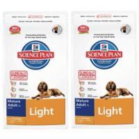 Hills Science Plan Canine Mature Adult 7+ Light Chicken 12kg x 2
