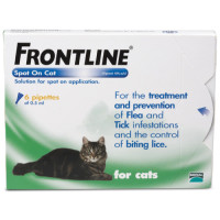 Frontline Flea Spot On Cat 0.5ml x 6 pipettes NFA-C