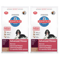 Hills Science Plan Canine Adult Advanced Fitness Medium Lamb 12kg x 2