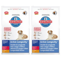 Hills Science Plan Canine Mature Adult 7+ Active Longevity Med 12kg x2