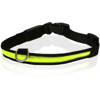 "Rosewood Reflective Flashing Dog Collar 18"" - 24"""