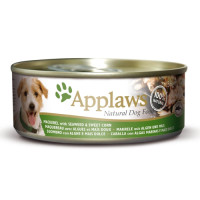Applaws Mackerel, Seaweed & Sweetcorn Can Dog Food 156g x 16