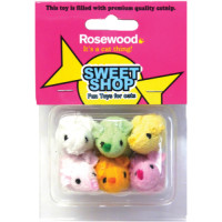 Rosewood Sweet Shop Sugar Mice Parade Cat Toy Pack of 6