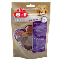 8in1 Dog Chicken Fillets Pro Active Small Pieces