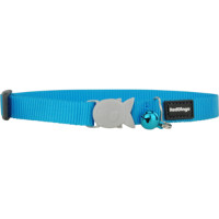 Red Dingo Cat Collar Plain Classic Blue