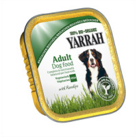 Yarrah Organic Vegetarian with Rose Hips Dog Food 150g x 14