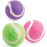 Ancol Small Bite Tennis Ball Assorted  6 pk