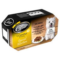 Cesar Tray Country Kitchen Special Selection Adult Dog Food 150g x 4
