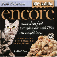 Encore Fish Selection Can Cat Food 70g x 8