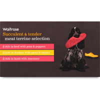 Waitrose Meat Selection Terrine Adult Dog Food 150g x 6