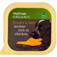 Waitrose Organic Terrine Rich in Chicken Adult Dog Food 150g x 11