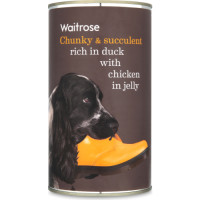 Waitrose Chunks in Jelly Duck & Chicken Adult Dog Food 1.2kg x 12