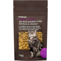 Waitrose Packed Pockets Chicken & Cheese Cat Treats 65g
