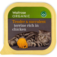 Waitrose Organic Terrine Rich in Chicken Cat Food 100g x 16