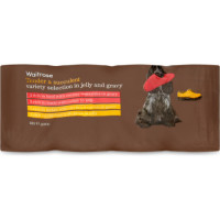 Waitrose Variety Selection in Jelly & Gravy Adult Dog Food 400g x 12