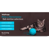 Waitrose Terrine Fish Selection Cat Food 100g x 6