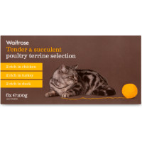 Waitrose Terrine Poultry Selection Cat Food 100g x 6