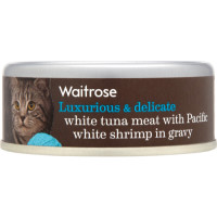 Waitrose Tuna Meat with Shrimp in Gravy Cat Food 80g x 12