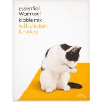 Essential Waitrose Kibble Mix Chicken & Turkey Cat Food 1kg