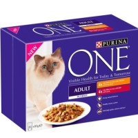 Purina ONE Chicken & Beef Mini Fillets In Gravy Adult Cat Food 85g x 8