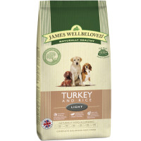 James Wellbeloved Turkey & Rice Light Adult Dog Food 12.5kg