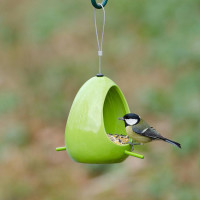 CJ WIldlife Fiesta Ceramic Feeder Green