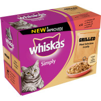 Whiskas Pouch Simply Grilled Meat Selection Adult Cat Food 85g x 12