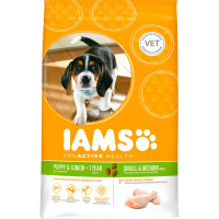 IAMS Chicken Small & Medium Breed Puppy & Junior Food 12kg x 2