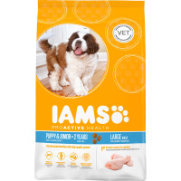 IAMS Chicken Large Breed Puppy & Junior Food 12kg x 2