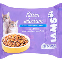 IAMS Chicken in Gravy Selection Kitten Food 85g x 24