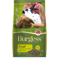 Burgess Excel Nuggets with Mint Adult Rabbit Food 10kg x 2