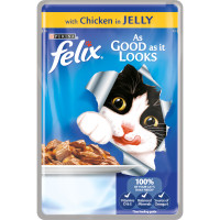 Felix As Good As It Looks Chicken In Jelly Cat Food 100g x 20
