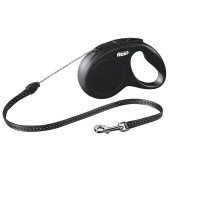 flexi Classic Cord Dog Lead Black - Small