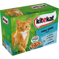 Kitekat Pouch Fish Dishes Jelly Adult Cat Food 100g x 12