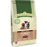 James Wellbeloved Turkey & Rice Adult Small Breed Dog Food 7.5kg