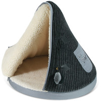 Tramps Teepee Cat Bed Black & Grey
