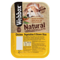 Webbox Natural Trays Chicken Veg & Brown Rice Adult Dog Food 400g x 7