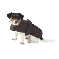 House Of Paws Quilted Brown Dog Rain Coat Medium