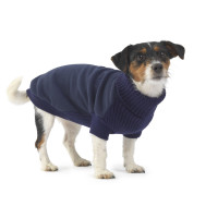 House Of Paws Fleece & Knit Navy Dog Jumper  Large