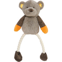 Rosewood Teddy Twister Plush & Rope Dog Toy