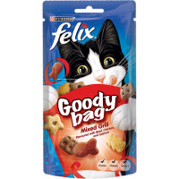 Felix Goody Bag Cat Treats Mixed Grill 60g - 8 Pack Saver Deal