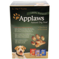 Applaws Chicken Multipack Wet Pouch Adult Dog Food 150g x 5