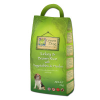 Greendog Turkey & Brown Rice Adult Dog Food 2kg