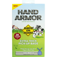 Bags On Board Hand Armour Extra Thick Dog Poop Bags 100 Bags
