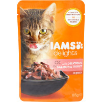 IAMS Salmon & Trout In Jelly Adult Cat Food 85g x 24