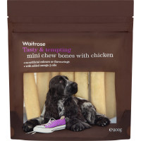 Waitrose Mini Chew Bones with Chicken Dog Treats 200g