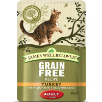 James Wellbeloved Turkey Adult Cat Pouches 85g x 12