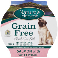 Natures Harvest Elite Salmon with Sweet Potato Small Dog Food 150g x 7
