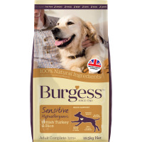 Burgess Complete Sensitive Turkey & Rice Adult Dog Food 12.5kg