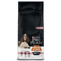 PRO PLAN OPTIDERMA Salmon Sensitive Skin Medium Adult 7+ Dog Food 14kg x 2